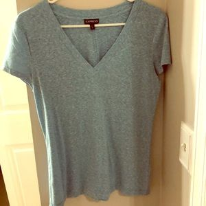 Gently worn baby blue Express V Neck